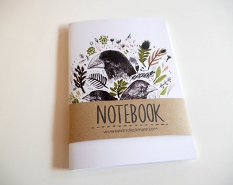 Notebook, Jotter, Mini Sketchbook | Darwin Finches