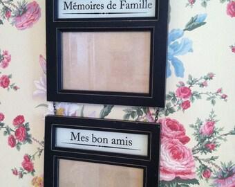 Vintage black french hanging frames