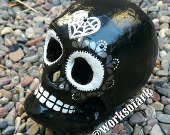 Black Sugar Skull (Ready to ship)