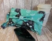Geeky Bow Clutch Purse, Teal Purse, Small Purse, Clutch Bag, Wristlet Purse, Star Wars Clutch, Geek Chic, Nerdy Purse, Nerd Fashion