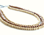 Natural Layered Necklace, multi strand Necklace, multi layered necklace, beaded necklace, statement necklace, brown necklace