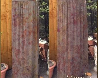 Hand Dyed Maxi Skirt, Distressed Dye, Tie Dye Skirt, pixie skirt