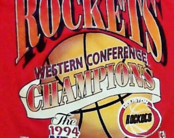 1994 Houston Rockets Western Conference Championship  TShirt Large