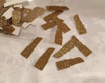 Confetti, 50 ct Gold Glitter Lipstick Shaped Confetti Party Decor Table Decorations