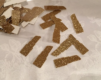 Confetti, 100 ct Glitter Lipstick Shaped Confetti Party Decor Table Decorations. MANY COLORS AVAILABLE