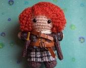 JAMIE FRASER Outlander Amigurumi Crochet Doll Lallybroch Highlands Yarn Kawaii Art Doll Mixed Media Scotland Time Traveller Claire Fraser
