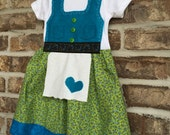 READY TO SHIP 18 Month Baby Dirndl in floral