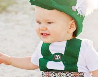 Baby Lederhosen and Bavarian Hat set
