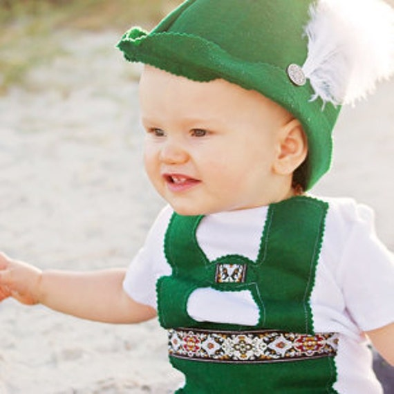 Baby Lederhosen and Bavarian Hat set