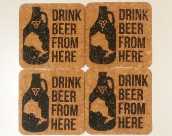 Drink Beer From Here - Ontario - 4 Coaster Set