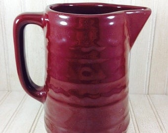 Vintage Brown Ribbed Shabby Chic Pitcher