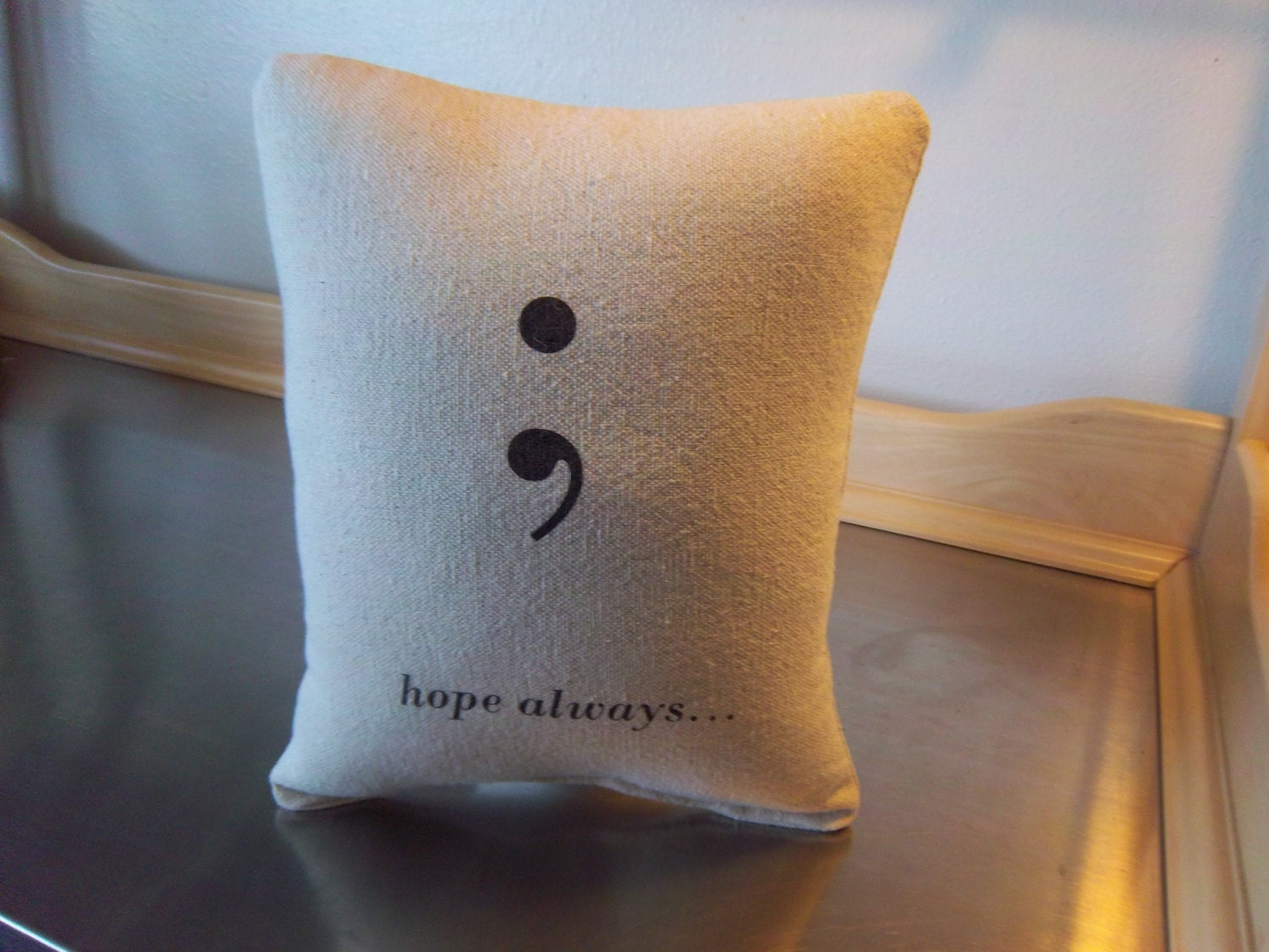 Hope Decorative Pillow : Inspirational gift pillow hope throw pillow by SweetMeadowDesigns