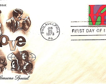 First Day of Issue Cover 1973 LOVE stamp