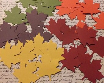 30 Autumn Fall Maple Leaves Leaf Die Cuts 2 inches