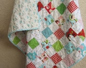 Snow Pals....A Baby/Toddler Patchwork Quilt....Ready to Ship.....38X40