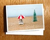 CHRISTMAS on the Beach Photo Card, Christmas Beach Photography, Unique Beach Christmas Photo Card, Australian Beach Christmas Photo Card