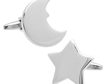 Star and Moon cufflinks