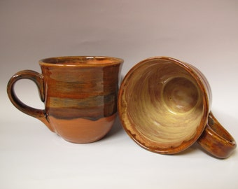Brown 16-ounce mug