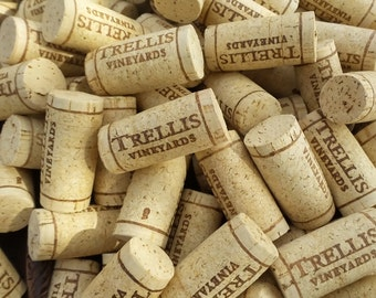100 TRELLIS winery wine corks for crafting projects, think of the possibilities