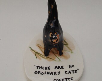 handmade ceramic cat sculpture, There are no ordinary cats