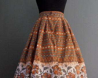 1950s Hawaiian Wrap a Round Skirt by Sun Fashions Hawaii
