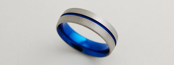 Mens Wedding Band , Titanium Ring , The Orion Band with Comfort Fit