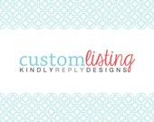 RESERVED LISTING for Kathy Bigelow