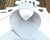 Gray Solid Ribbon 7/8 inch - Choose from 1-50 yd - Light Silver Grosgrain Ribbon - Gray Ribbon, Grey Ribbon - Hairbow Supplies, Etc.