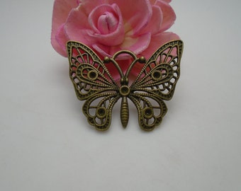 2 colors for choice---50 pieces 48mmx36mm metal butterfly charm/pendant for jewelry