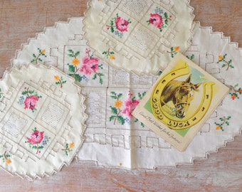 Vintage Trio of Doilies