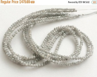 50% ON SALE Grey Rough Diamonds, Natural Grey Raw Diamond Beads, Uncut Diamond Beads, Diamond Necklace 2-4mm, 15 Inches Strand