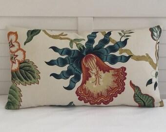 Schumacher Hothouse in Spark Designer Lumbar Pillow Cover 14x24