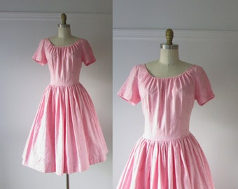 SALE vintage 1950s dress / 50s dress / Cotton Candy