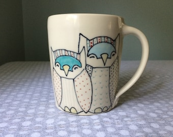 Reseved for Aileen- Large Owls Mug