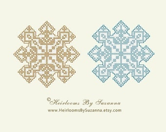 INSTANT Download - Snowflake 2 - Machine Cross Stitch Design - Machine Embroidery Pattern - 4x4 - Brother - Viking - Janome - Pfaff