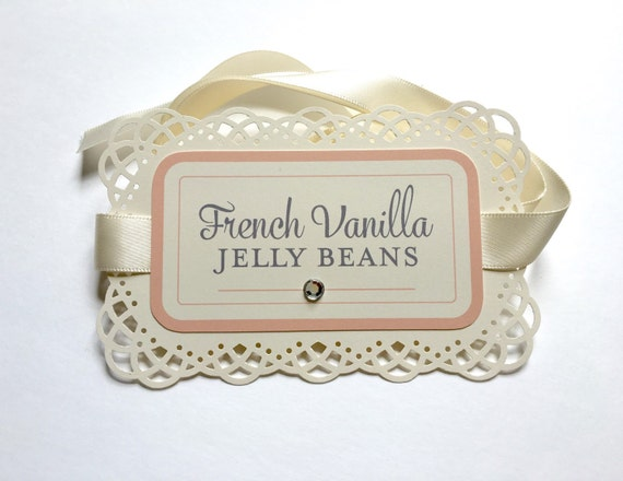Lace Labels - Lace Candy Buffet Labels - Lace Dessert Cards - Lace Tag - Wedding Candy Buffet Labels - Vintage Labels - Handcrafted Lace Tag