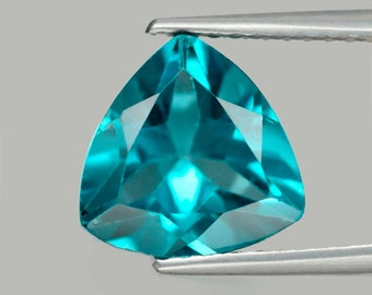 TOPAZ (31070) - Sparkly! Gorgeous Trillion Cut 9mm Medium London Blue Topaz - Faceted