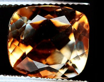 TOPAZ (20884)  11 x 12mm Champagne Multi-Color Cushion Cut Topaz - Faceted - Brazil