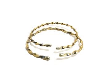Bracelet Brass, Silver, Set of 2,Cuff, Women, Men, Teen, Adult, Ready To Ship,