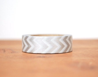 washi tape: silver and white chevrons