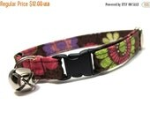 ON SALE Cat Collar- Pink and Brown Mia Floral