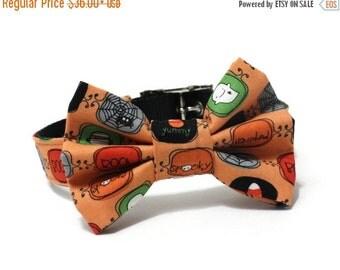 BIG SALE Bowtie Dog Collar- Boo To You