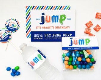 Jump Collection. Party Pack. PERSONALIZED. DiY Printable Design. Pinkadot Shop
