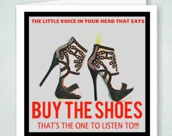 Buy The Shoes Shoe Fetish Shoe Freak Greeting Card