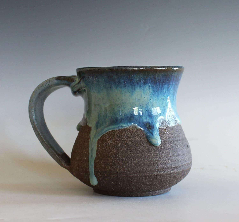 Pottery Mug 14 oz handmade ceramic cup handthrown mug