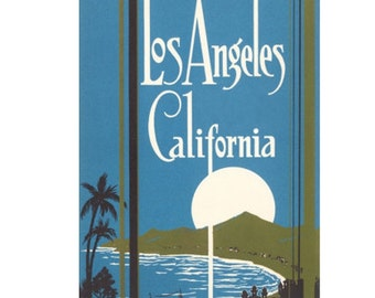 LOS ANGELES 6- Personalized Leather Journal Cover Moleskine Field Notes Custom