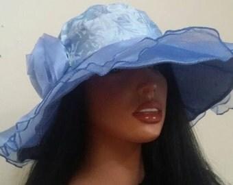 Organza summer hat.