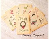 CHRISTMAS Journal Cards, Pocket Letters, Journaling, Scrapbooking, Girl, Her, Believe