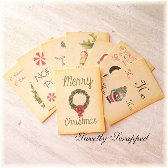CHRISTMAS Journal Cards, Pocket Letters, Journaling, Scrapbooking, Girl, Her, Believe