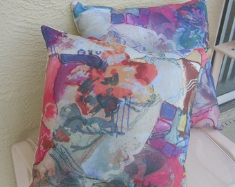 Accent Pillow Covers, Abstract Pattern, 20 x 20 inches, Cotton Blend